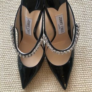 Jimmy Choo bing black patent heel